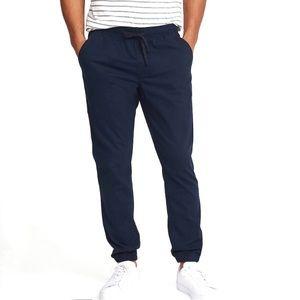 Express Navy Blue Cotton Casual Jogger Pants M